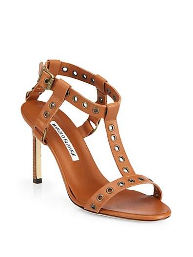 Kaypoti Leather T-Strap Sandals