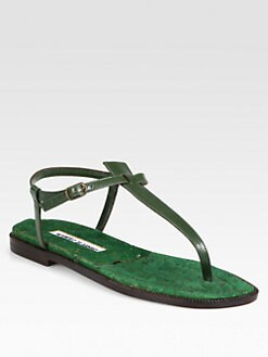 Manolo Blahnik - Luette Cork Thong Sandals