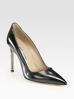 Manolo Blahnik - Metallic Patent Leather BB Pumps