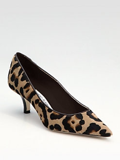 Manolo Blahnik - Maldiva Leopard-Print Haircalf Point-Toe Pump