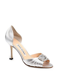 Manolo Blahnik - Sedaraby Jewel Buckle d'Orsay Pumps