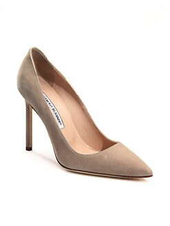 Manolo Blahnik - BB Suede Point-Toe Pumps