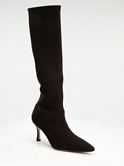 Manolo Blahnik - Pascalare Suede Knee-High Boots
