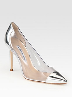 Manolo Blahnik - Pacha Translucent Patent Leather Pumps