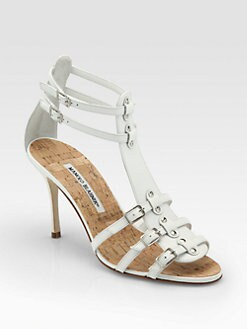 Manolo Blahnik - Axez Leather Gladiator Sandals