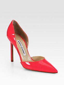 Manolo Blahnik - Tayler Patent Leather d'Orsay Pumps