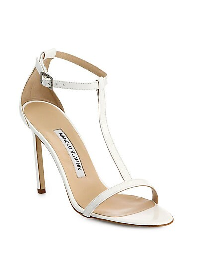 Spence Patent Leather T-Strap Sandals