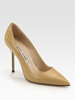 Manolo Blahnik - BB Leather Point Toe Pumps