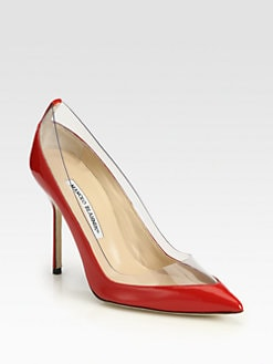 Manolo Blahnik - Star Patent Leather Pumps