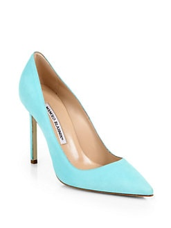 Manolo Blahnik - BB Suede Pumps