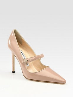 Manolo Blahnik - Campari Patent Leather Mary Jane Pumps