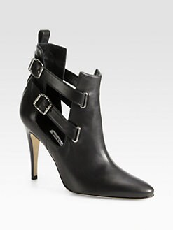 Manolo Blahnik - Cenino Strappy Leather Ankle Boots