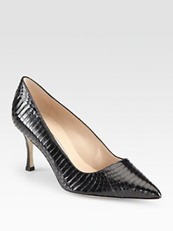 Manolo Blahnik - BB Snakeskin Pumps