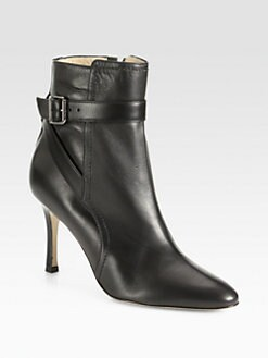 Manolo Blahnik - Ribafa Leather Ankle Boot
