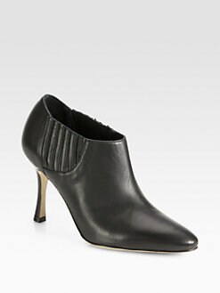 Manolo Blahnik - Livrea Leather Ankle Boots
