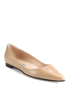 Manolo Blahnik - BB Leather Ballet Flats