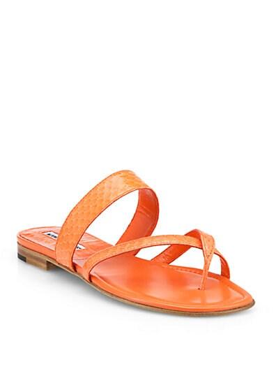 Susa Snakeskin Sandals