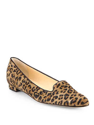 Sharif Leopard-Print Suede Loafers