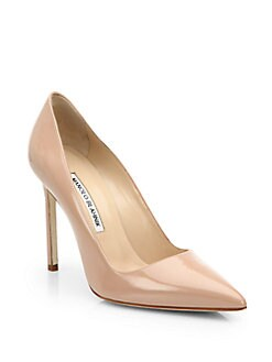 Manolo Blahnik - BB Patent Leather Point Toe Pumps