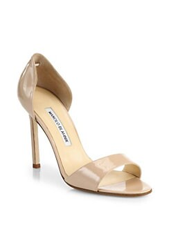 c732036b2cd3 Manolo Blahnik Catalina Patent Leather D Orsay Sandals