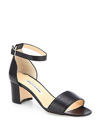 Laura Leather Ankle-Strap Sandals