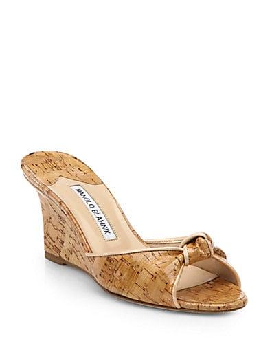 Cork Wedge Slide sandals