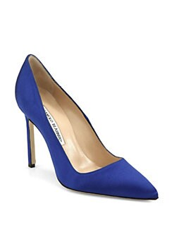 Manolo Blahnik - BB Satin Pumps
