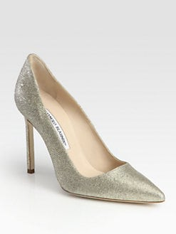 Manolo Blahnik - BB Glitter-Coated Pumps