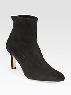 Manolo Blahnik - Pasca Suede Ankle Boots