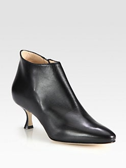 Manolo Blahnik - Leather Ankle Boots