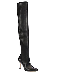 Manolo Blahnik - Leather Over-The-Knee Boots