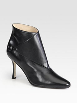Manolo Blahnik - Diaz Leather Ankle Boots