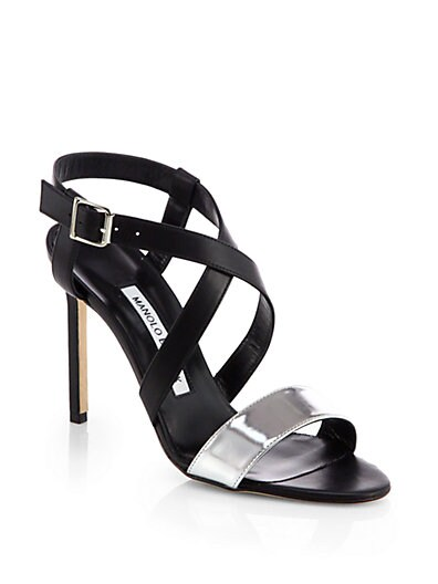 Strepitopla Leather Crisscross Sandals