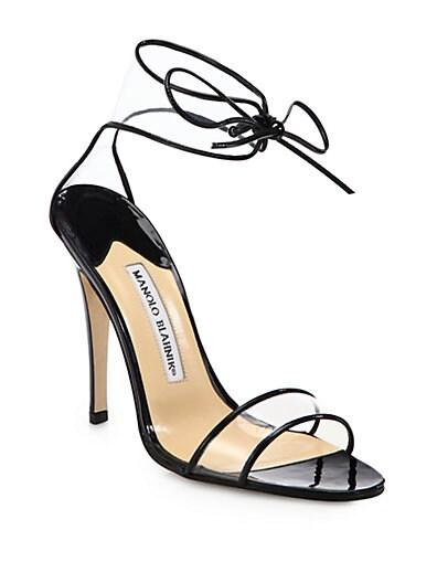 Lucitan Ankle-Tie Sandals