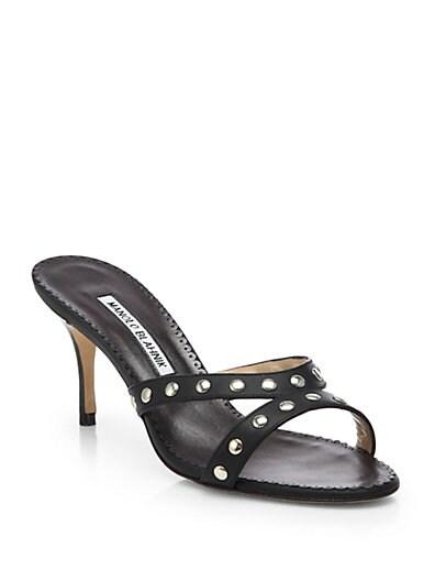 Lumabo Studded Leather Slides