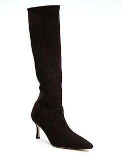 75aa31f87c5d0 Manolo Blahnik Pascalare Suede Knee-High Boots