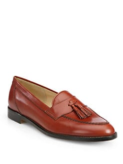 Manolo Blahnik - Enrika Leather Tassel Loafers