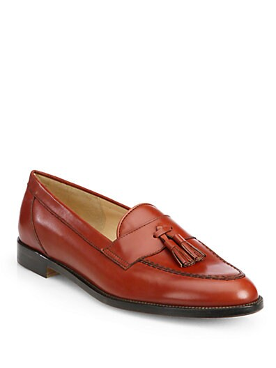 Enrika Leather Tassel Loafers