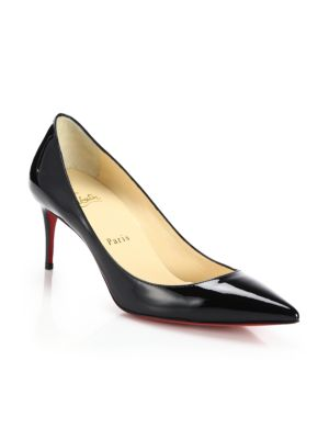 christian louboutin female decollete patent leather pumps