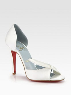 Christian Louboutin - Livr&#233;e Satin Bridal Pump
