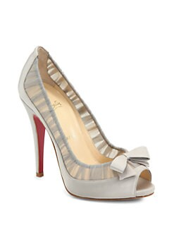 Christian Louboutin - Angelique Satin & Chiffon Pumps