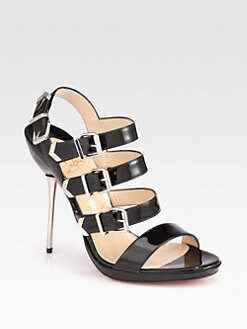 Christian Louboutin - Funky Patent Leather Platform Sandals