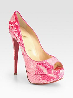 Christian Louboutin - Lady Python Platform Pumps