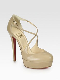Christian Louboutin - Borgese Leather Platform Pumps
