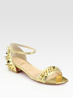 Christian Louboutin - Druide Spiked Mirror Leather Sandals