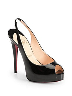 Christian Louboutin - Vendome Patent Leather Slingback Pumps