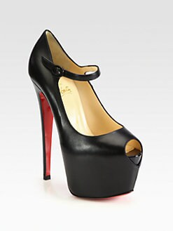 Christian Louboutin - Lady Highness Leather Mary Jane Platform Pumps