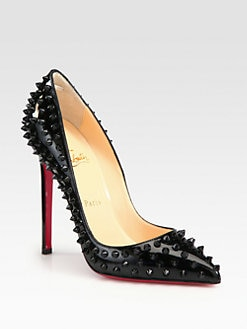 Christian Louboutin - Pigalle 120M Spikes Patent Leather Pumps