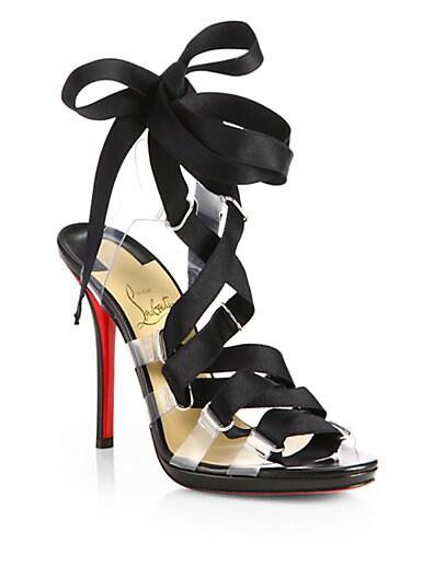 Nymphette Satin Tie-Up Sandals
