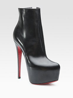 Christian Louboutin - Daf Leather Platform Ankle Boots